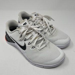 Nike Metcon 4 Shoes White/Black-Total Crimson 924593-103 Women's Size 7.